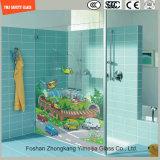 샤워를 위한 고품질 3-19mm 만화 심상 디지털 페인트 실크스크린 인쇄 안전 패턴 강화 유리 또는 목욕탕 또는 SGCC/Ce&CCC&ISO를 가진 분할