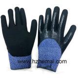 Couper le gant de travail de gants de Hppe plongé par nitriles résistants de gants de doubles