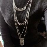 Do pendente Chain geométrico redondo do Tassel da flor da esfera do vintage colar longa