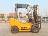 Snsc Forklift do propano da gasolina da gasolina do gás de um LPG de 1.5 toneladas
