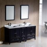 Vanità di legno diritta del dispersore della stanza da bagno del bacino del pavimento americano doppia