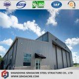 Estructura pre dirigida del acero para el hangar de los aviones