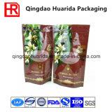 Unteres Stützblech-Plastiknahrungsmittelverpackungs-Beutel mit Reißverschluss und Ventil