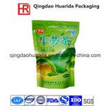 Levar in piedi in su il sacchetto impaccante di plastica tè verde/rosso della serratura della chiusura lampo/imballaggio per alimenti
