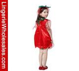 Costume Cospaly партии Halloween красного цветка девушок Fairy с головным убором