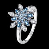 925 순은 파란 교련 눈 모양 형식 디자인 반지 보석