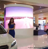 P12 rideau flexible de publicité d'intérieur en affichage vidéo du cylindre DEL