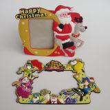 Горячая продавая персонализированная рождеством изготовленный на заказ мягкая рамка фотоего PVC