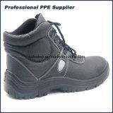 Zapatos de seguridad de construcción del corte del colmo del cuero partido
