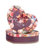 Presente Hearted do papel de impressão da forma que empacota Boxes com fita