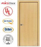 Porte coupe-feu en bois solide de porte avec la porte américaine européenne de sûreté de type de conformité de nomenclature Trada du R-U