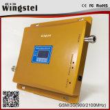 Répéteur à deux bandes de signal du téléphone mobile 2100MHz de GM/M 3G 900 avec l'affichage à cristaux liquides