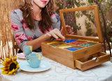 Traer el cajón 8 puede ajustar el rectángulo de bambú del té de la partición