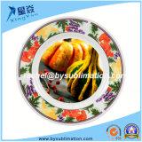 Placa cerâmica do Sublimation vermelho da cor 8inch da borda da morango