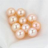 Snh 7-7.5mmの円形のモモAAAの等級の淡水の真珠はビードを緩める