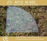 8mm 1/4 Kreis-Form-Regal-ausgeglichenes Glas mit runden Polierrändern