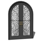 Portas da rua decorativas da entrada do ferro feito de Sucurity para a casa