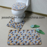 Anti-Slip 연약한 산호 양털 3PCS 목욕탕 매트 세트