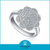 Неподдельное полируя кольцо стерлингового серебра 925 для свободно образца (R-0021)