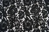 オーガンジーファブリックはファブリックレースの刺繍の綿のレースを刺繍する
