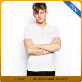 T-shirt fait sur commande de blanc de coton de blanc d'homme d'usine de la Chine