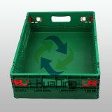 Virgin multiuso e Virgin di plastica accatastabile riciclato delle casse del cestino e gabbia di plastica pieghevole riciclata