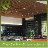 потолок дефлектора профиля деревянного цвета 50W*300h алюминиевый для торгового центра