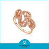 Ювелирные изделия кольца плакировкой AAA CZ золотистые (SH-R0003)