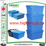 Turnover di plastica Storage Box con Hinged Lids