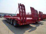 半100ton 4車軸重く低いベッドのトレーラーの油圧Lowboyのトラックのトレーラー