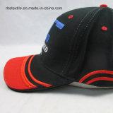 Выдвиженческая почищенная щеткой бейсбольная кепка хлопка квалифицированная способом
