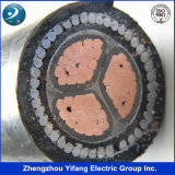 Voltage faible 3 Core Electric Underground Cable avec Aluminium