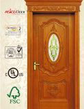 Glastür, französische Tür, Morden Entwurfs-feste hölzerne Tür mit Glas