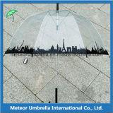 23inches Straight Auto Open PVC TransparentアポロBubble Umbrella