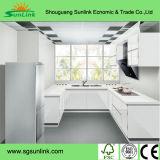 端バンディング(zhuv)が付いている光沢度の高いアクリルの食器棚のドア