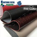 Couro sintético gravado do PVC do falso para a bagagem do saco