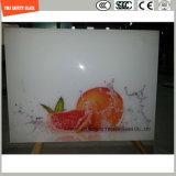 L'impression de Silkscreen de peinture de la qualité 4-19mm Digitals/gravure à l'eau forte acide/se sont givrés/plat de configuration/ont déplié le dessus de Tableau en verre Tempered avec SGCC/Ce&CCC&ISO