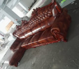 Sofa de l'Europe, sofa en cuir, sofa en bois, sofa de l'Amérique (A37)