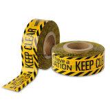 注意テープ-バリケードは黄色い警告テープを入力しない