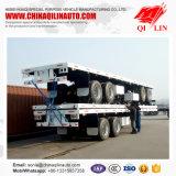 2 prix de remorque de lit plat de l'essieu 40FT avec 12 blocages de conteneur