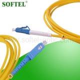 Cordon de connexion du mode unitaire Om3 MPO de faisceaux de la fibre optique 12 de duplex de mode unitaire