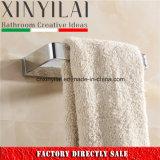 Anillo de toalla material de cobre amarillo sólido del cromo para los accesorios del baño