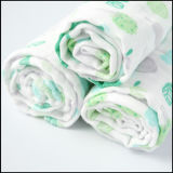 Il bello bambino molle organico personalizzato della garza del cotone di disegno Swaddle la coperta