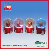 عامة تذكار [هندمد] زجاجيّة ثلج كرة أرضيّة يحسب عيد ميلاد المسيح أضواء داخلا