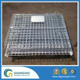 Galvanisierter faltbarer Metalldraht-Ineinander greifen-Ablagekasten mit Rädern