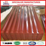 Tetto d'acciaio galvanizzato ondulato di colore