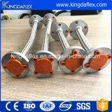 Ensemble de tuyau tressé de teflon du boyau solides solubles 304 de PTFE