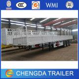 Dei 3 assi del contenitore a base piatta della parete laterale del carico del camion rimorchio pratico semi