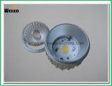 8W 10W 반사체 Dimmable 찬 위조 알루미늄을%s 가진 LED에 의하여 중단되는 반점 빛