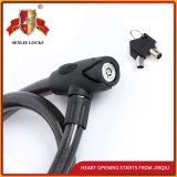 Schwarzes Sicherheits-Fahrrad-Verschluss-Motorrad-Stahlkabel-Verschluss der Farben-Jq8218